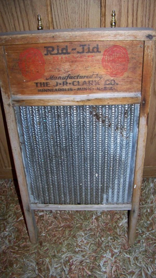 Vintage Antique Washboard Rid-jid Silver Clark