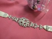 bridal ribbon rhinestone headbandbridal