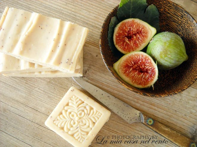 NEW-Soap with fresh figs-Cold Process Soap