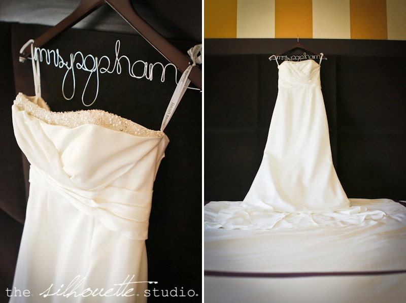 Personalized Wedding Dress Hanger Bridal Hanger Name Hanger