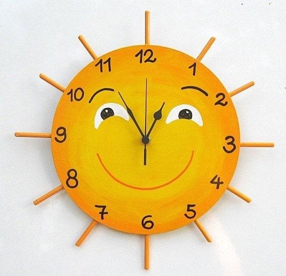 LITTLE MISS SUNSHINE Hand Painted Wall Clock - TammnoonyKids