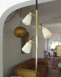 Vintage Danish modern style tension pole floor lamp