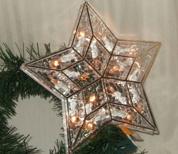 Vintage Christmas tree topper Lighted Star Tree topper