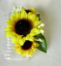 Wedding party Accessories Sunflower Hair by ...