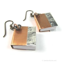 Book Jewelry: Book Earrings for Librarians Teachers Writers