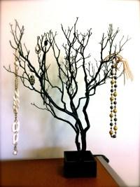 30 Black / Painted Tree Jewelry holder / Jewelry