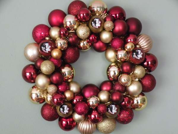 Florida State Seminoles Ornament Wreath