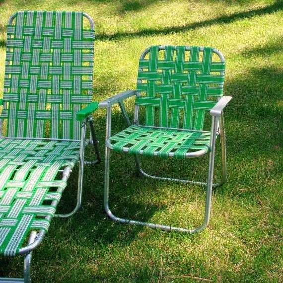 portable picnic chair armchair slipcover patterns vintage webbed lawn beach folding aluminum by mabledear