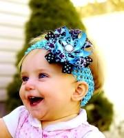items similar baby hair bow.blue