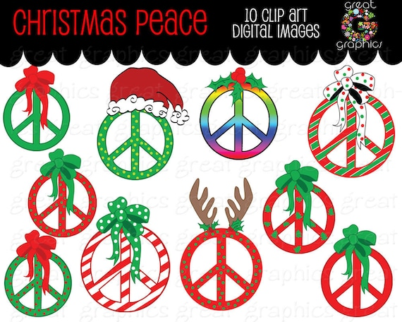 christmas clipart peace sign clip