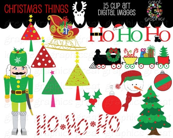 christmas clipart digital