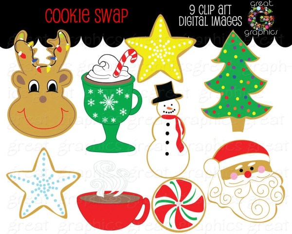 christmas clip art cookie