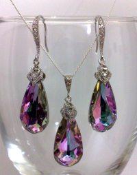 Amethyst Purple Jewelry Set Swarovski Crystal Jewelry by ...