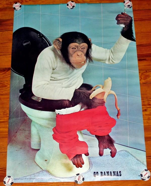 1974 Bananas Vogt Eurodecor Chimp Toilet