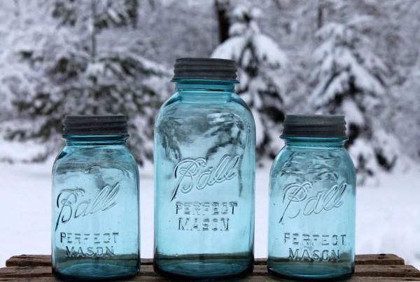 Vintage Blue Ball Perfect Mason Canning Jars 1-quart & 2-quart