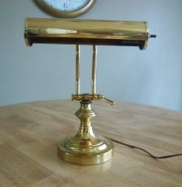 Vintage Brass Library Desk Lamp
