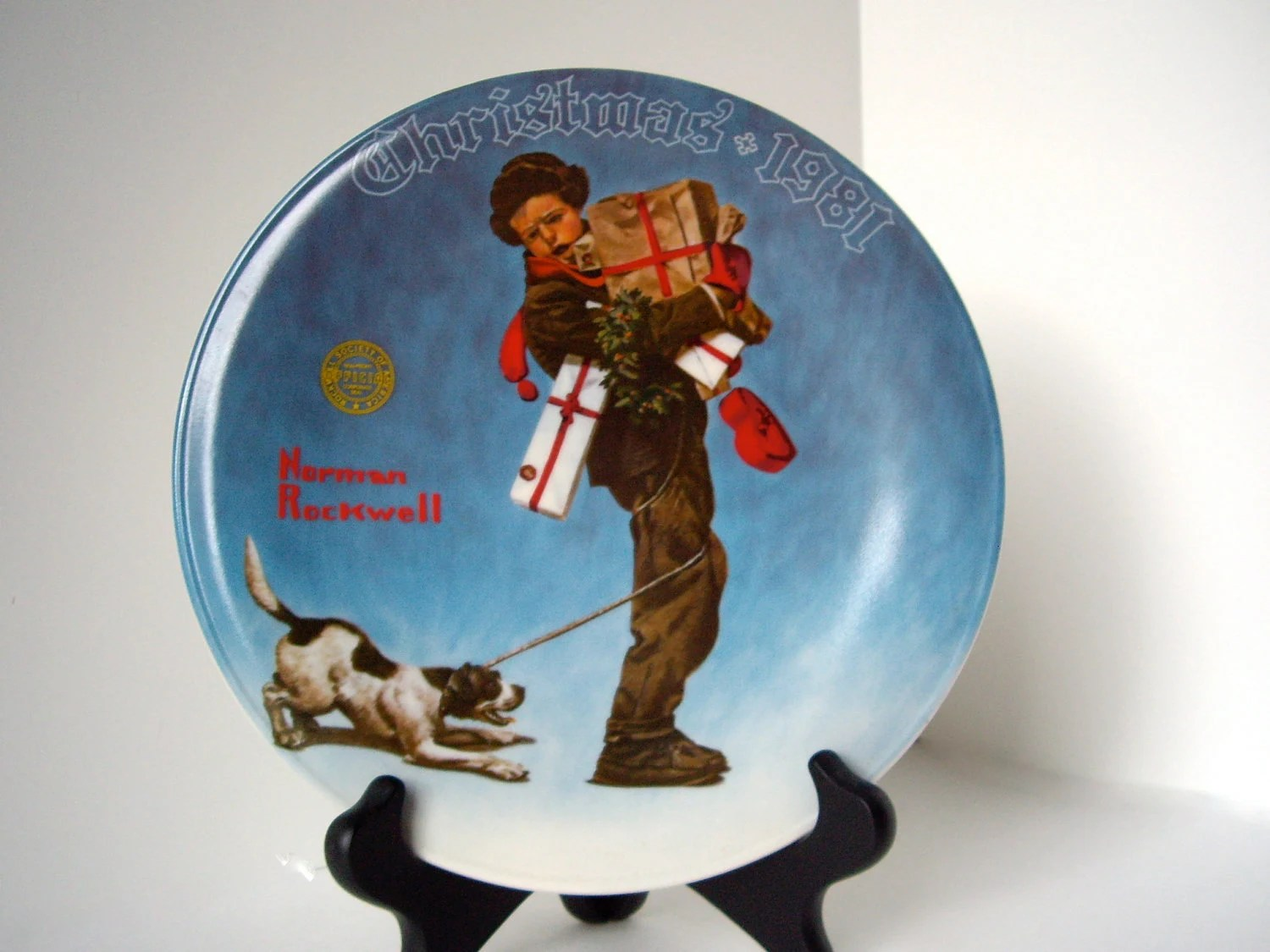 Vintage Norman Rockwell Christmas Plate 1981 By