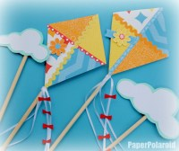 Kite party decorations on a stick