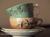 fine art photography golden leaves teacups 8x10 - WhittakerPhotography