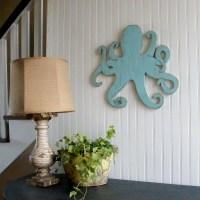 Octopus Wooden Sign Beach Coastal Wall Art by SlippinSouthern