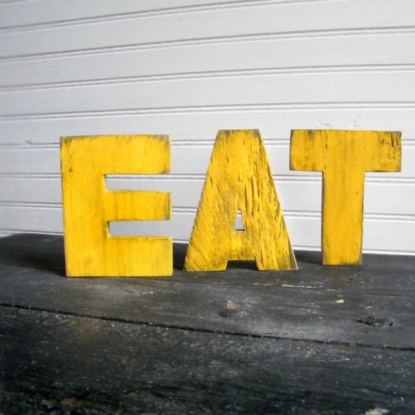 Eat Letters Kitchen Decor