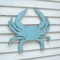 Blue Crab Decor Coastal Wall Decor Supersized Blue Crab Wall