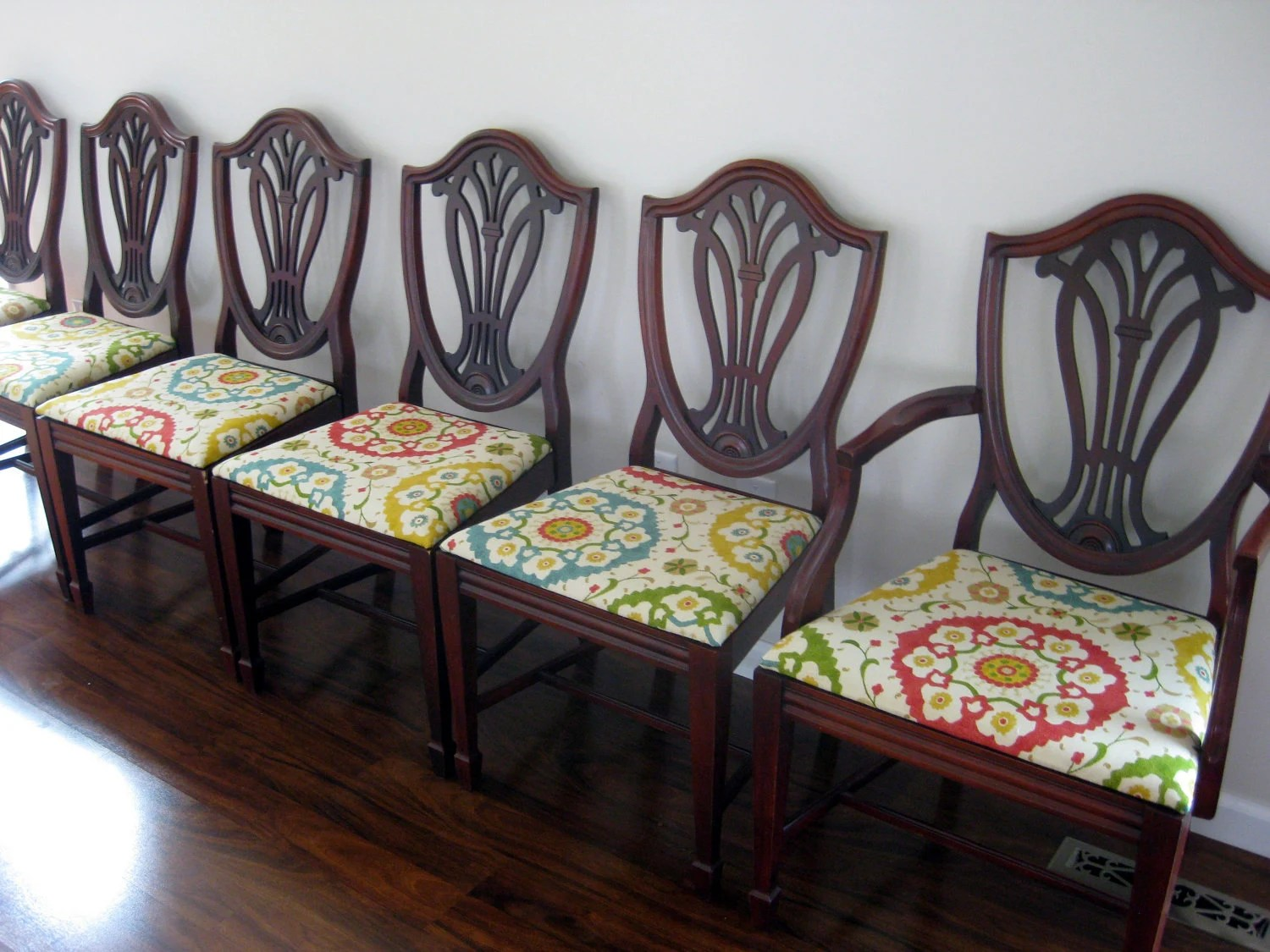 Dining Chair: Amazing Set Of Six Shield Back Chairs