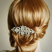 bridal hair comb crystal wedding