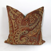 Paisley Pillow Cushion Cover Decorative Red Green