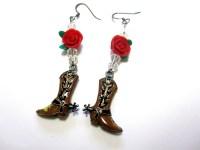 Cowboy Boot Earrings Cowgirl Bling Western by sweetie2sweetie
