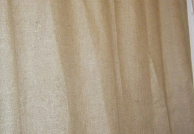 Burlap Shower Curtain With Grommets