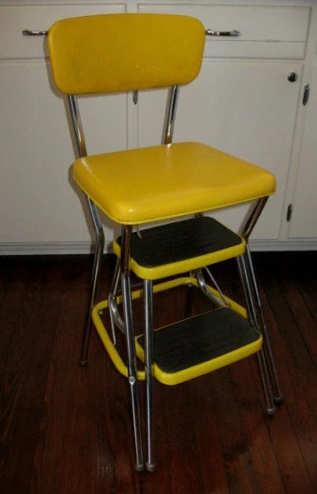Vintage Cosco Step Stool Folding Steps Booster Seat Like New
