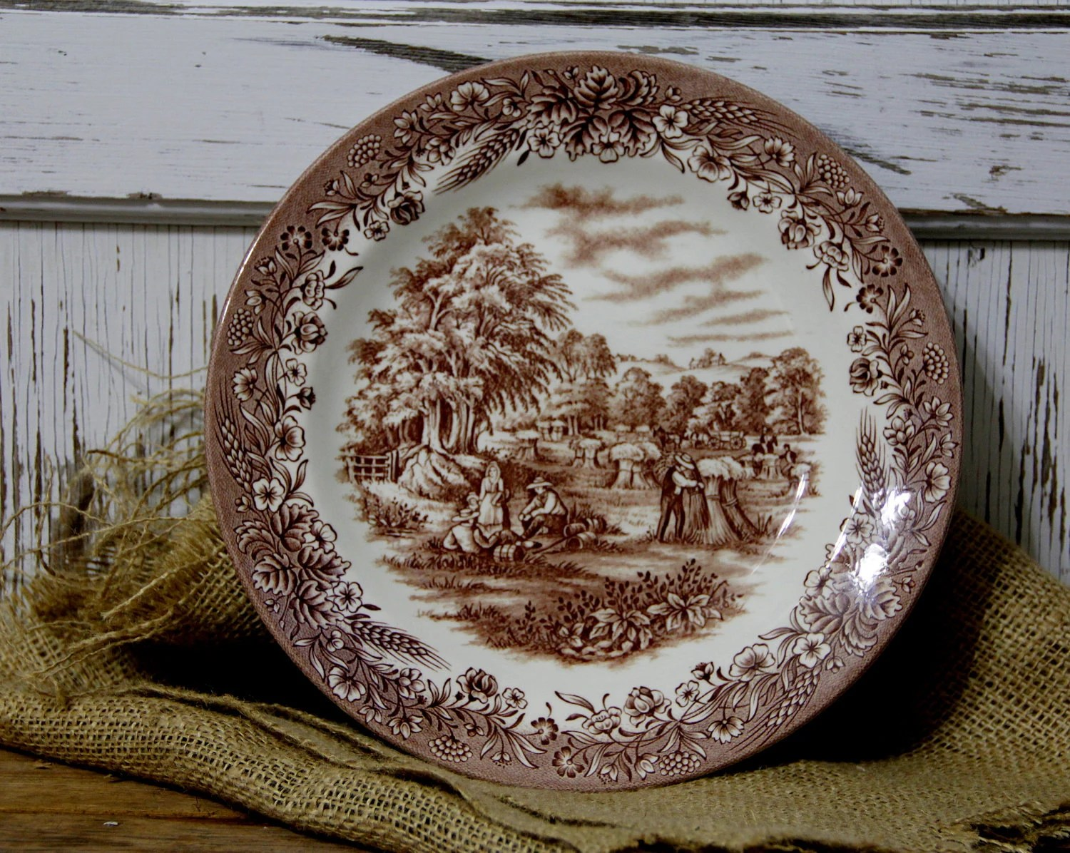 Items similar to Currier and Ives Harvest Plate on Etsy