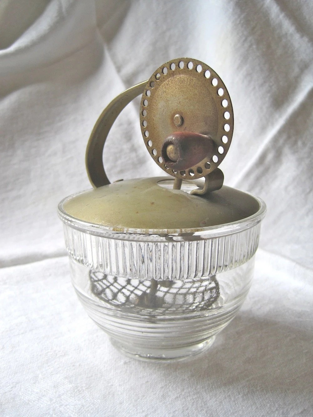 Androck Vintage Egg or Mayo Beater with Glass Base