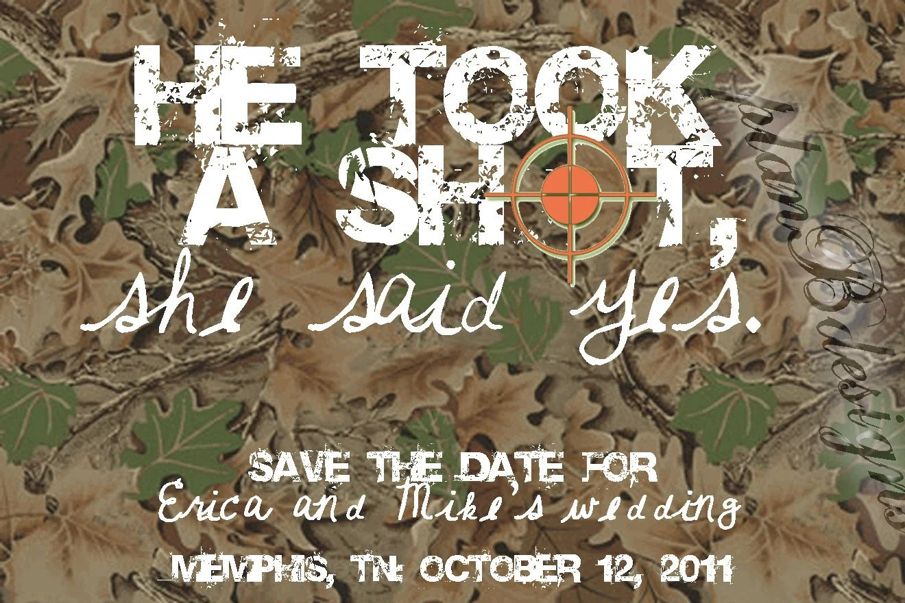 Camo/Hunting Save The Date Print Your Own