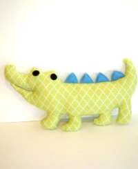 Items similar to Cobo the green and blue soft toy pillow