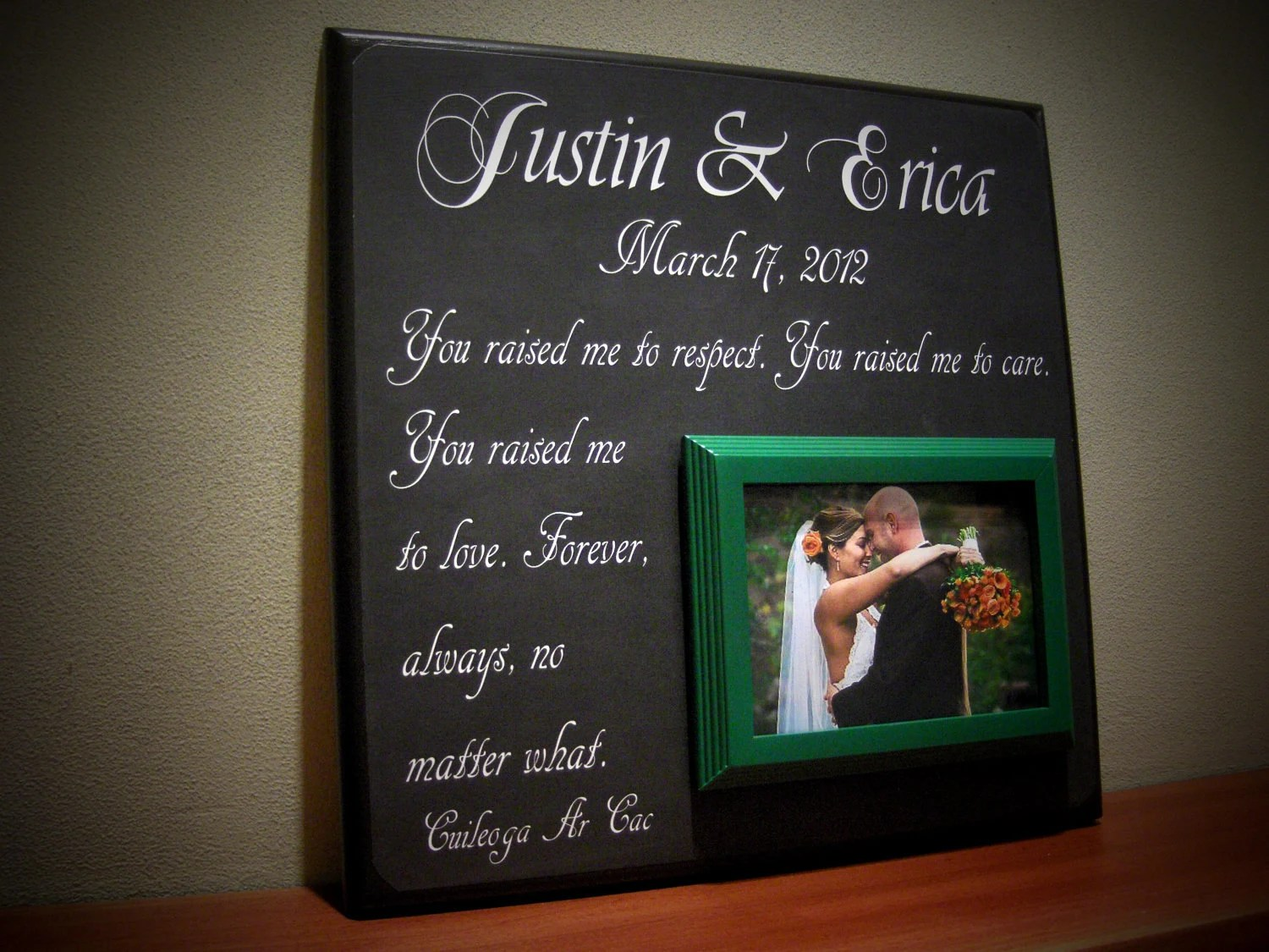 Personalized Wedding Gift For Parents Parents By
