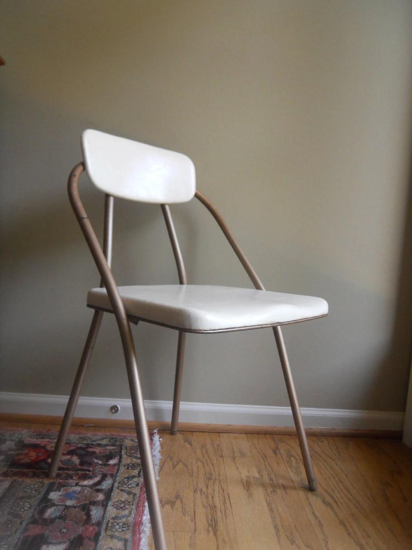 folding chair rubber feet ergonomic grey mid century by hamilton cosco