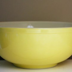 Kitchen Planner Rustic Outdoor Vintage Pyrex Mixing Bowl Yellow 1940s 1950s Large 10 Inch
