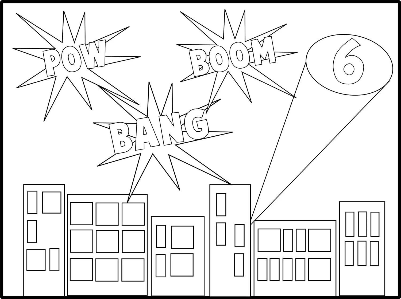 Digital Superhero Custom coloring Sheet from Let's Party