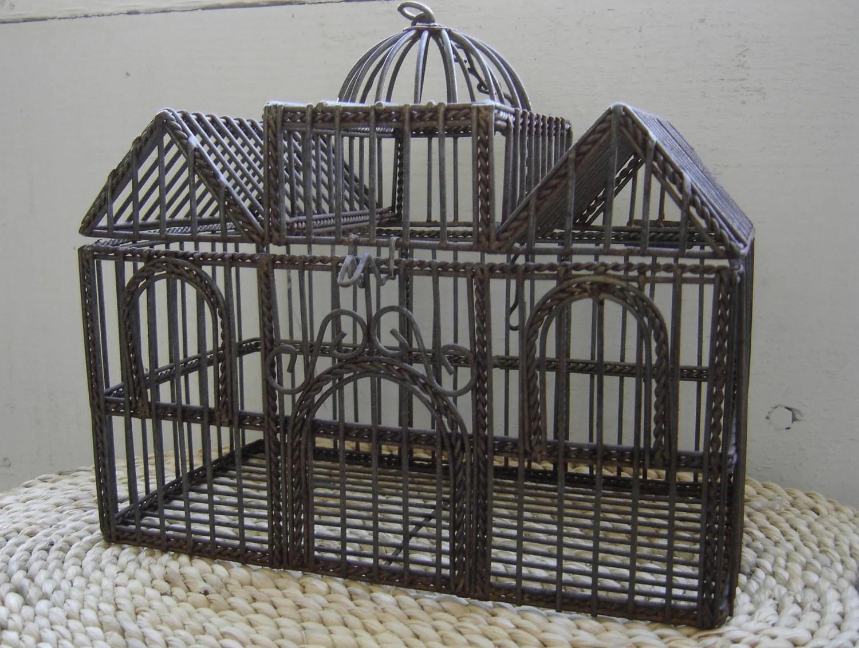 SALE Vintage Home Decor Bird Cage Wedding Card By