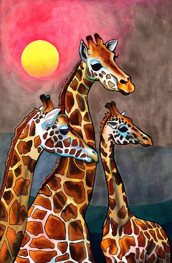 Gnostic Giraffes Graceful African Creatures Illustrated