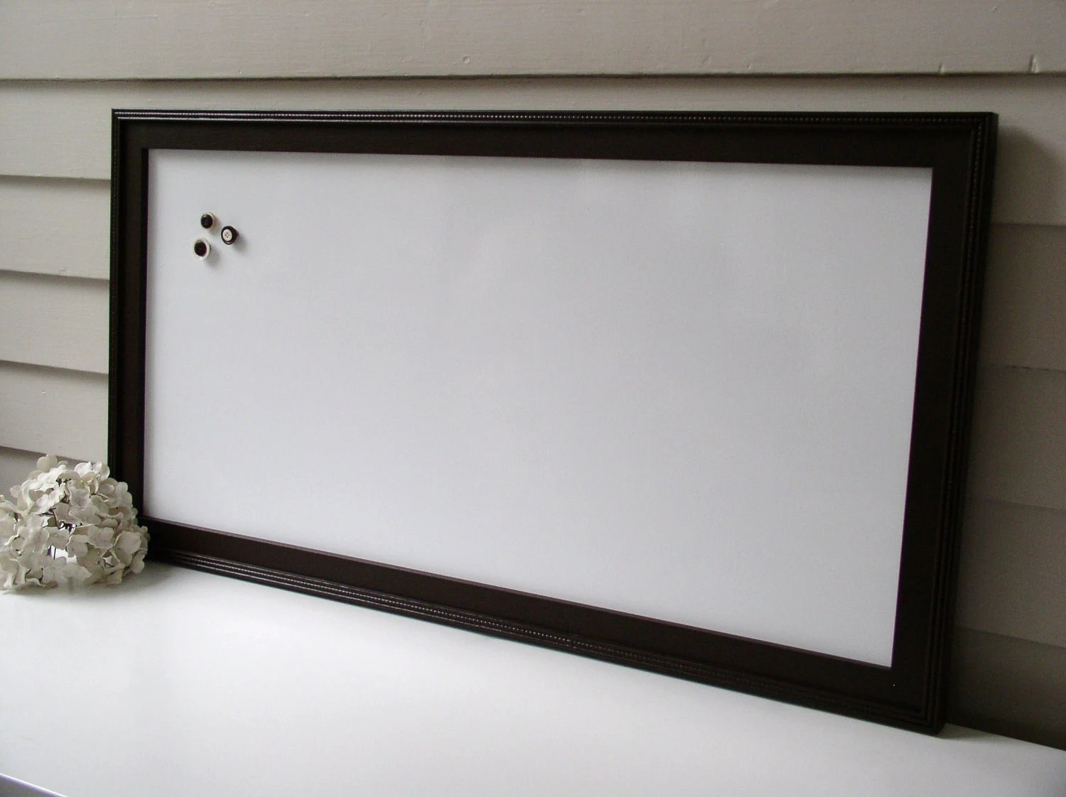 Espresso Brown Magnetic Dry Erase Board Whiteboard Bulletin