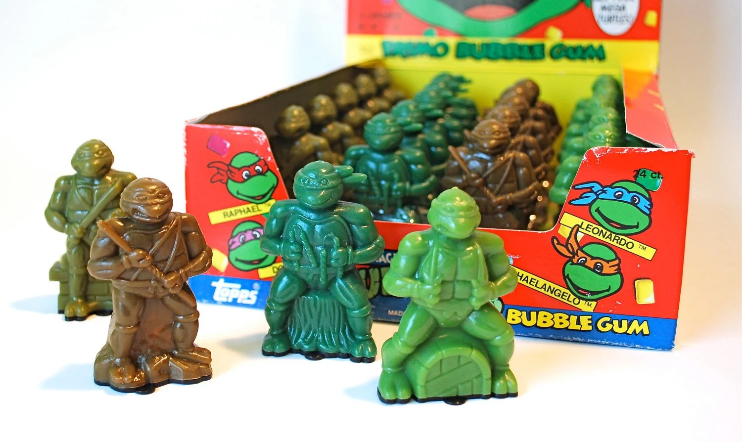 Teenage Mutant Ninja Turtles Candy Container Set Of 4