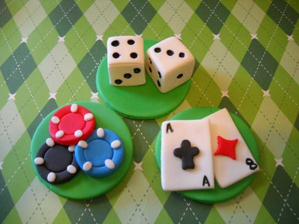 Casino Cupcake Toppers Edible Fondant Set Of 12