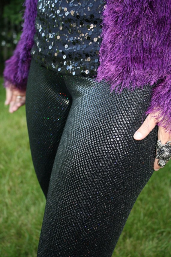 Ladies Holographic Dragon Scale Leggings - pick your size/ pick your color - WreckingCrewCreation