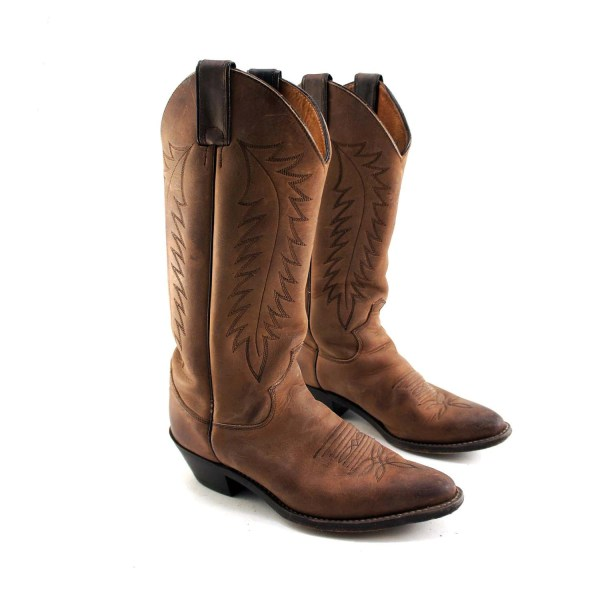 Brown Justin Cowboy Boots for Women