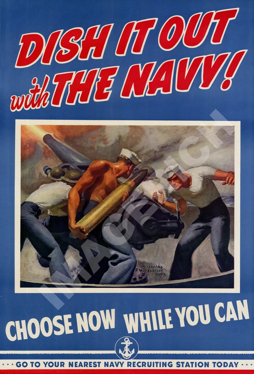 Items similar to World War II Poster  Dish It Out With