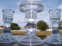 Bling Glass Unity Candle Holder Set Candle holder Glass
