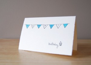 birthday simple card happy drawing bunting cupcake revisit later favorites